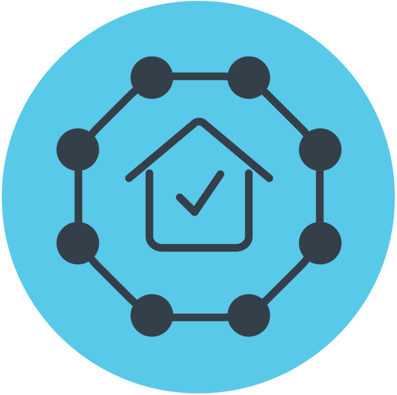 house and network icon