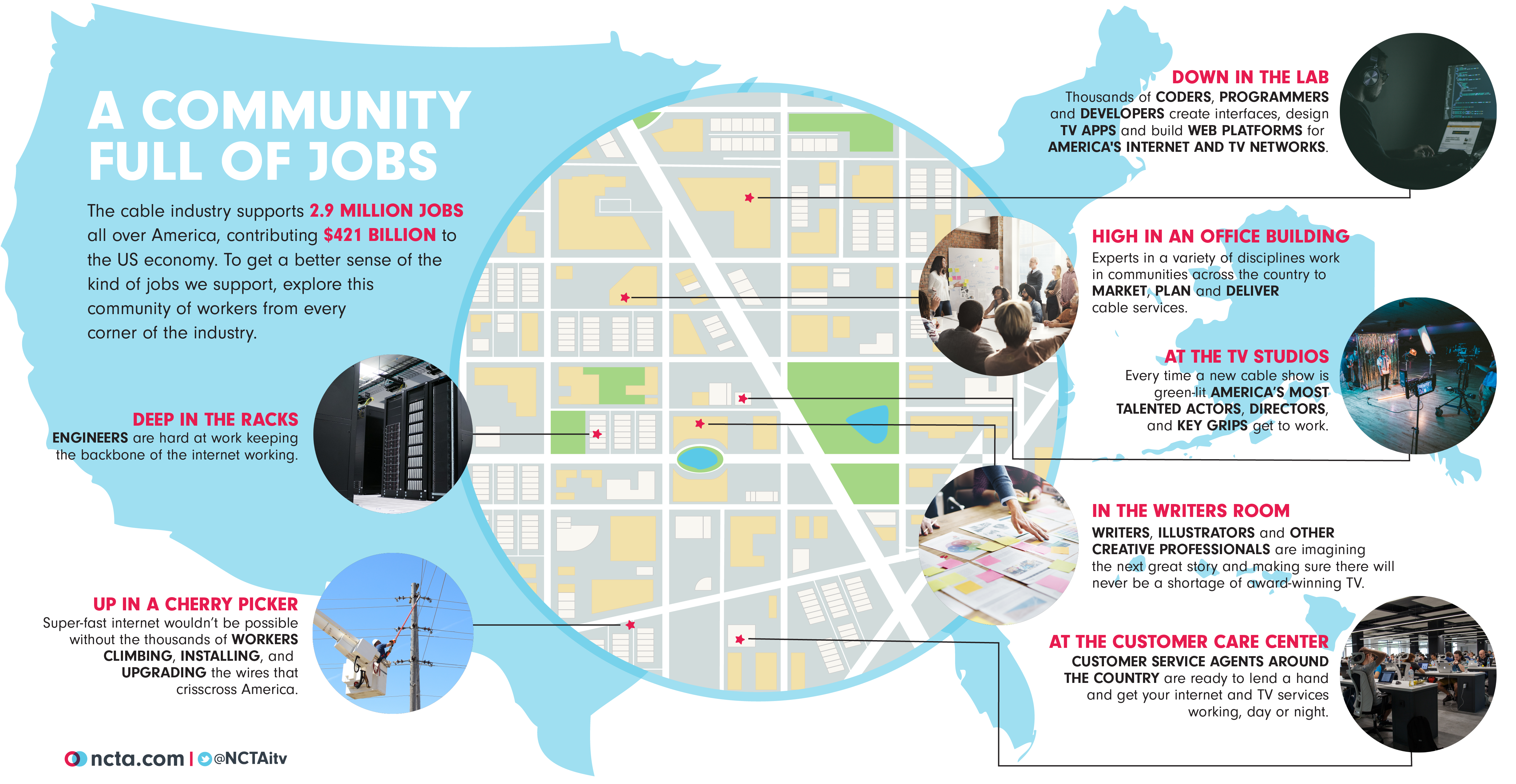 cable jobs map