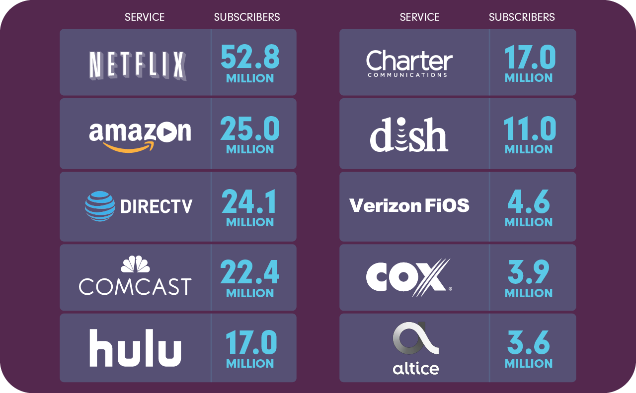 Top 10 video providers