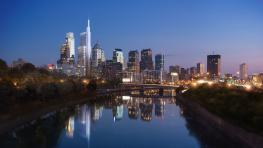 Comcast Philadelphia skyline